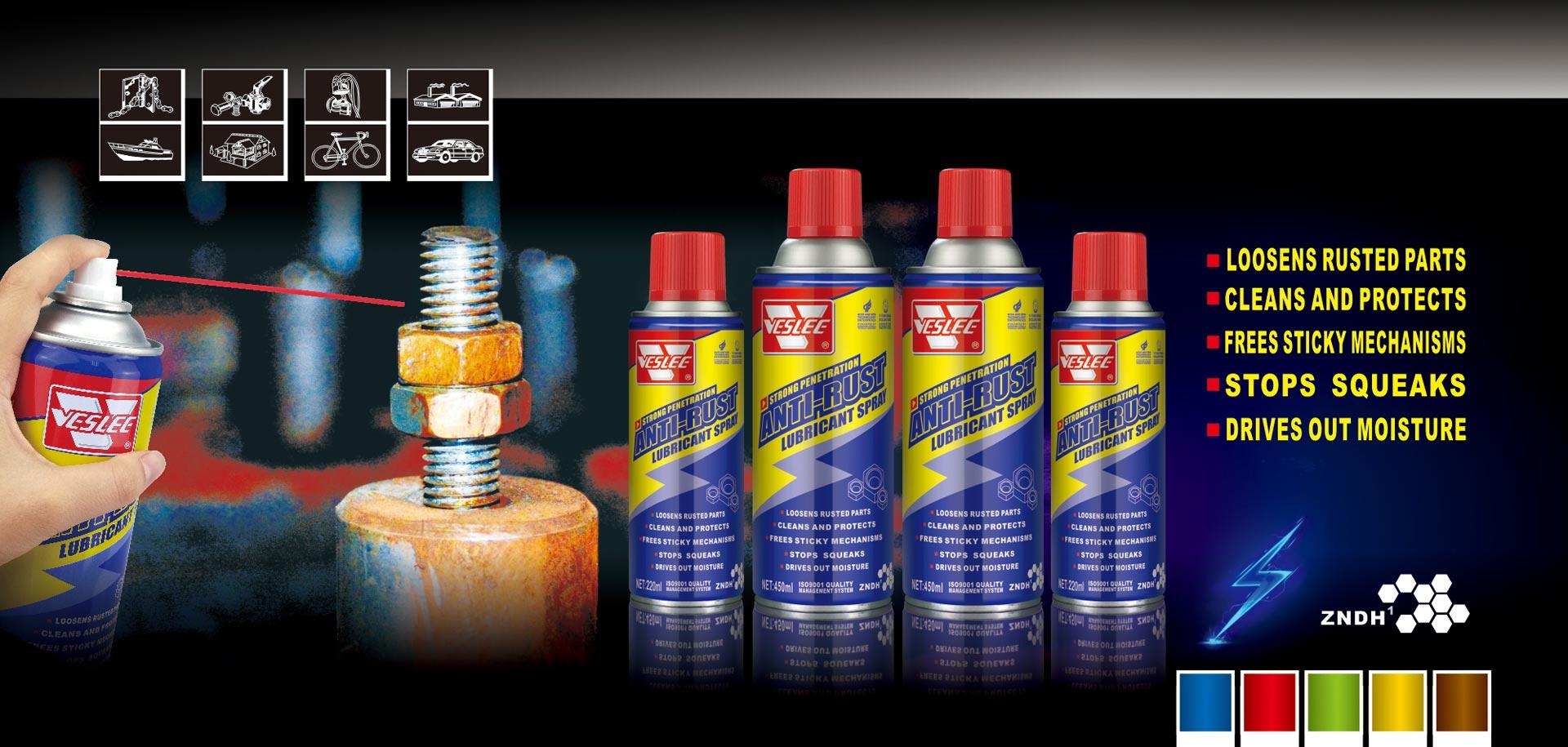 Anti rust lubricant spray